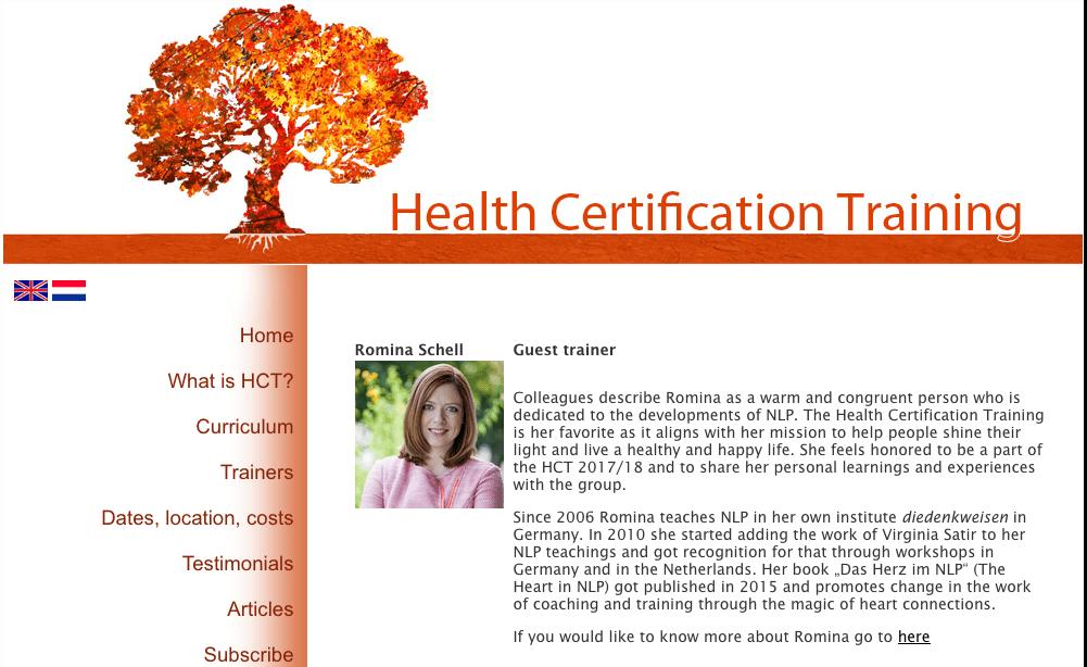 Health Certifcation Training Romina Schell