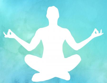 Watercolor Meditierende Person