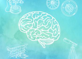 Watercolor Gehirn mit vielen Einstellungsmöglichkeiten